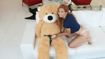 Exxxtra Small Immature Spinner Caught Fucking a Teddy Bear Kadence Marie