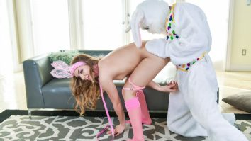 Exxxtra Small Mini Easter Bunny Babe Gets Slammed Summer Brooks