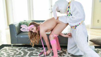 Exxxtra Small Mini Easter Bunny Babe Gets Slammed Summer Brooks